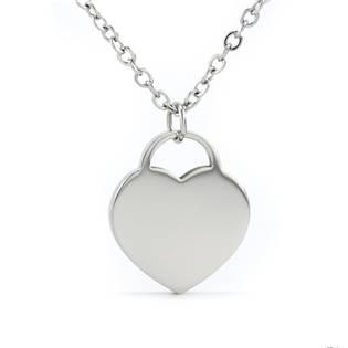 Šperky4U Ocelový řetízek se srdíčkem - OPD0101