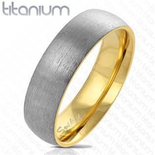TT1040 Pánský snubní prsten titan