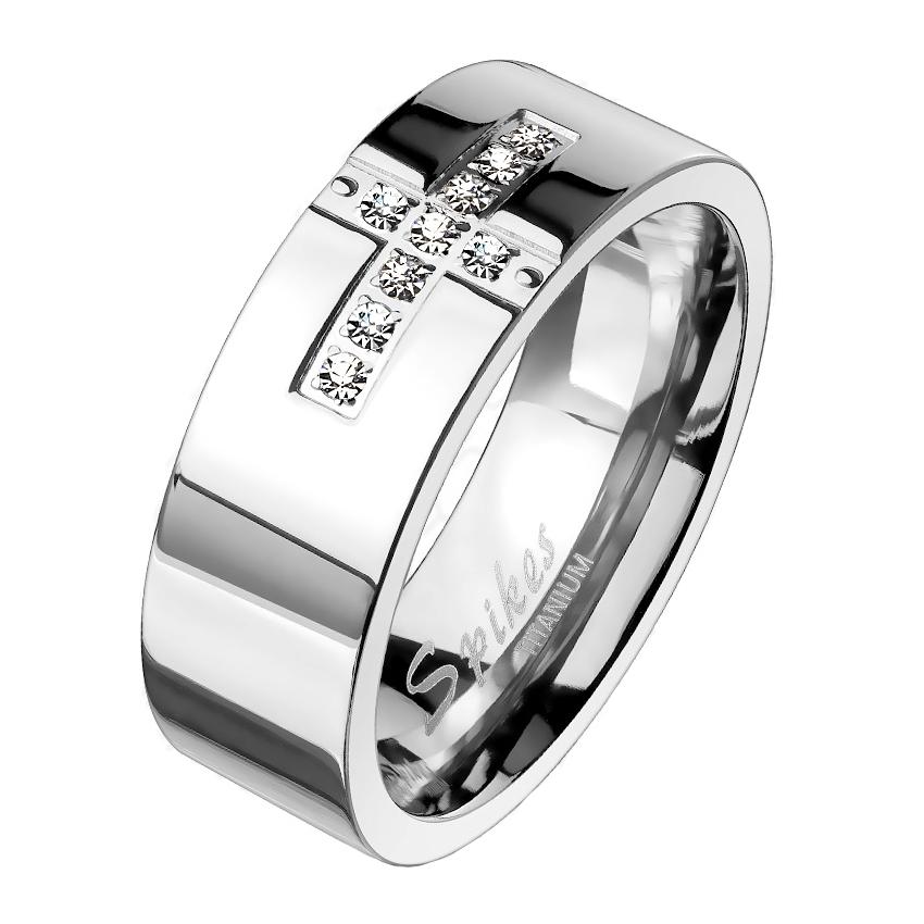 Dámsky snubný prsteň titán, šírka 6 mm, veľ. 52