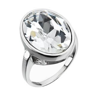 Stříbrný prsten ovál s kamenem Crystals from Swarovski®, Crystal