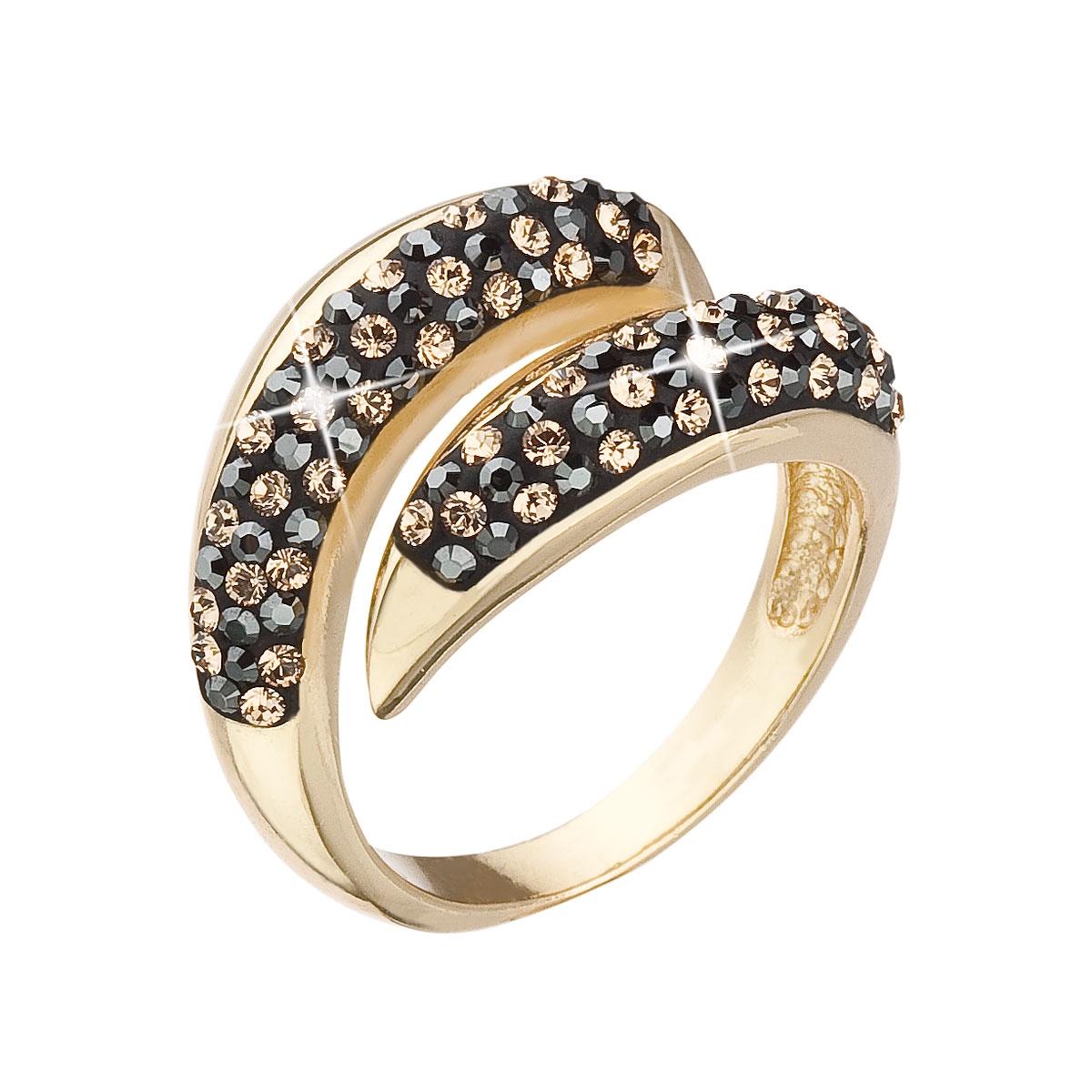 Pozlátený strieborný prsteň s kryštálmi Swarovski Colorado 01468e627ac