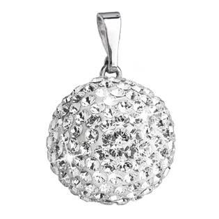 Stříbrný přívěšek koule s krystaly Crystals from Swarovski®, Crystal