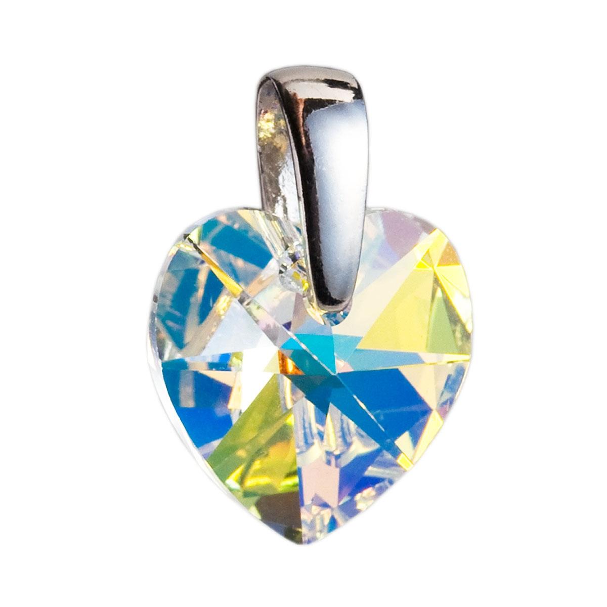 Strieborný prívesok srdce Crystals from Swarovski ® AB 2f652239041