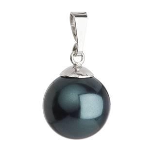 Stříbrný přívěšek se zelenou perlou Crystals from Swarovski®
