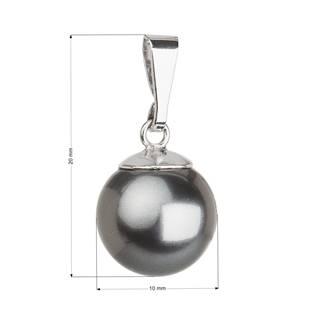 Stříbrný přívěsek se šedou perlou Crystals from Swarovski®
