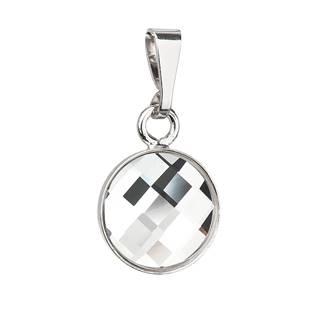 Stříbrný kulatý přívěšek Crystals from Swarovski®
