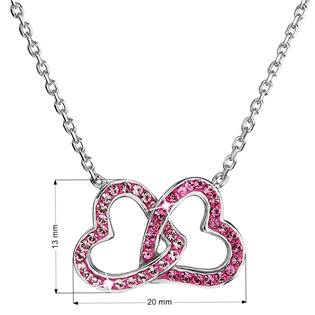 Stříbrný náhrdelník s krystaly Crystals from Swarovski® Pink