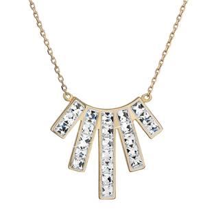 Zlacený stříbrný náhrdelník s krystaly Crystals from Swarovski® Crystal