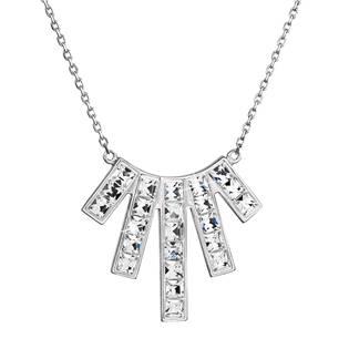 Stříbrný náhrdelník s krystaly Crystals from Swarovski® Crystal