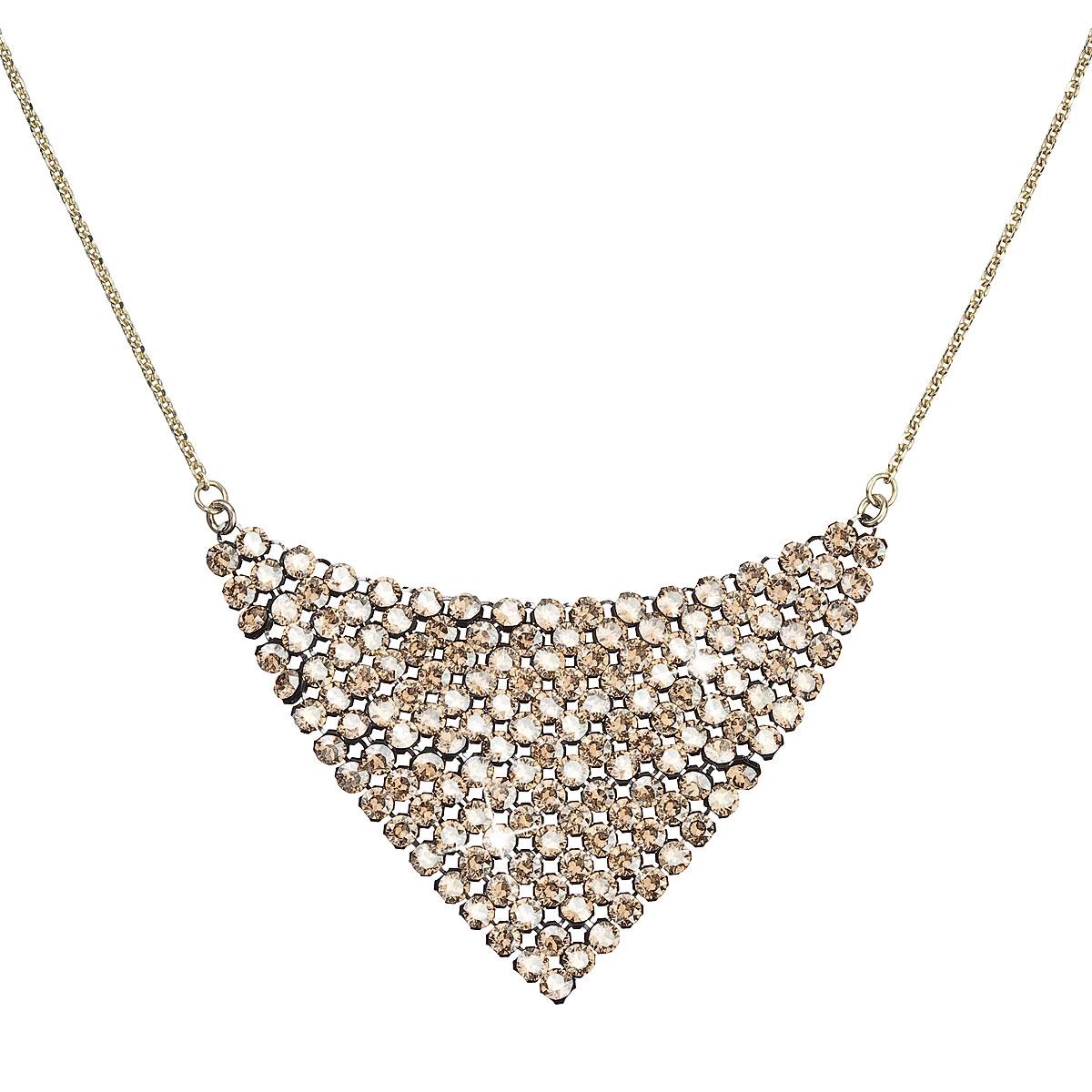 Pozlátený strieborný náhrdelník s kryštálmi Crystals from Swarovski ®
