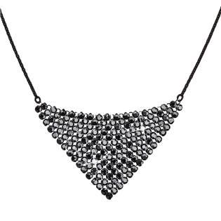Stříbrný náhrdelník s krystaly Crystals from Swarovski® Black