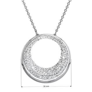 Stříbrný náhrdelník kruh s krystaly Crystals from Swarovski®