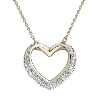 Zlacený stříbrný náhrdelník s krystaly Crystal from Swarovski®, Crystal