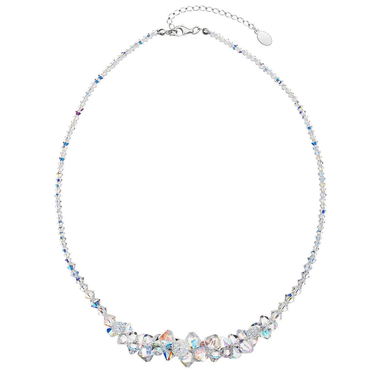 Stříbrný náhrdelník s krystaly Crystals from Swarovski® AB EG4011-AB