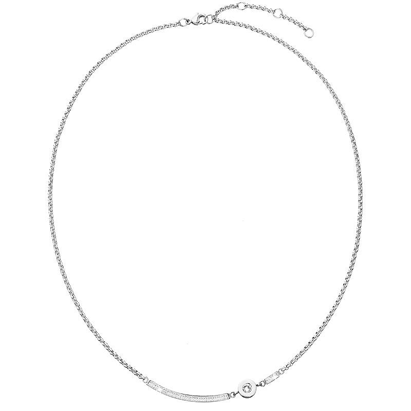 Ocelový náhrdelník s krystalem Crystals from Swarovski®