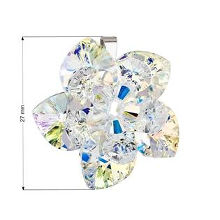 Stříbrný přívěšek s kytička s krystaly Crystals from Swarovski® AB