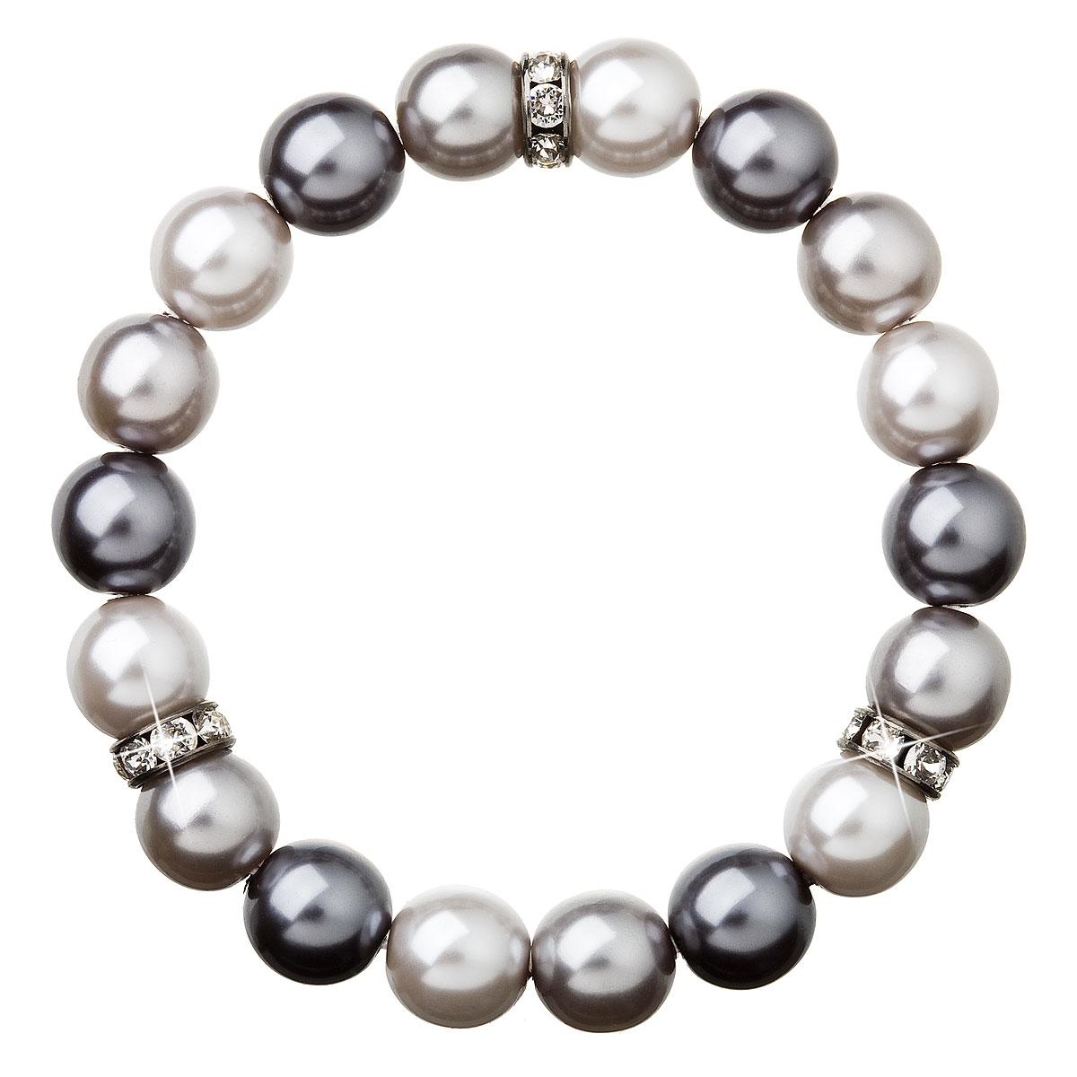 Perlový náramok šedý