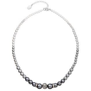 Šedý perlový náhrdelník Crystals from Swarovski®