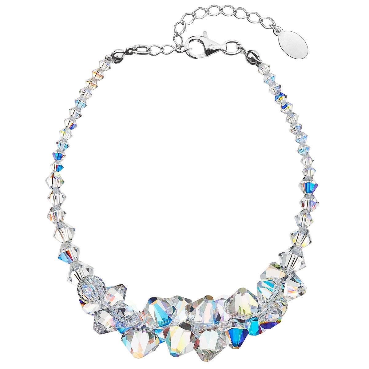 Stříbrný náramek s krystaly Crystals from Swarovski® AB EG7009-AB