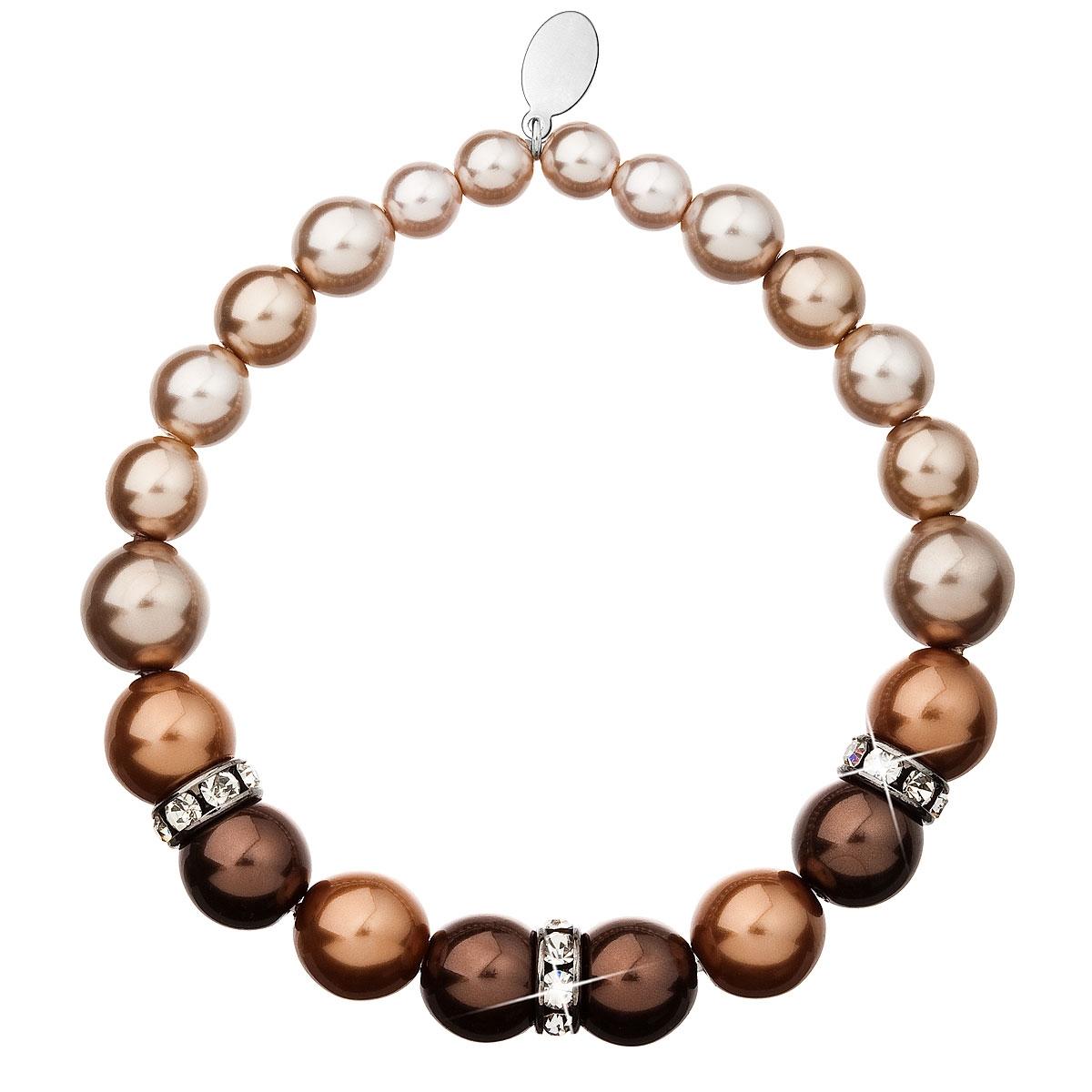 Perlový náramok hnedý