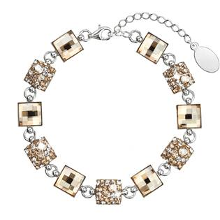 Stříbrný náramek s krystaly Crystals from Swarovski®, Gold