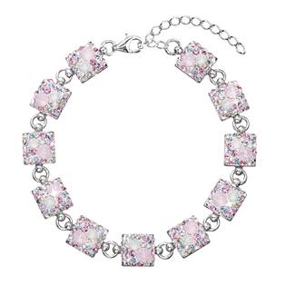 Stříbrný náramek s krystaly Crystals from Swarovski®, Magic Rose