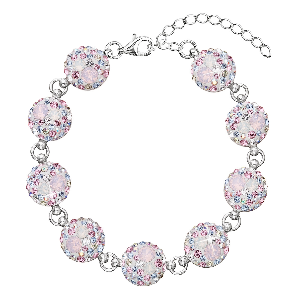 Stříbrný náramek s krystaly Crystals from Swarovski®, Magic Rose EG7004-MR