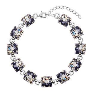 Stříbrný náramek s krystaly Crystals from Swarovski®, Indigo