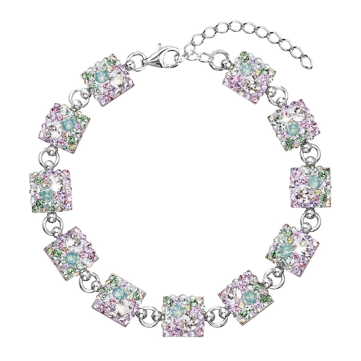Strieborný náramok s kryštálmi Crystals from Swarovski ®, Sakura