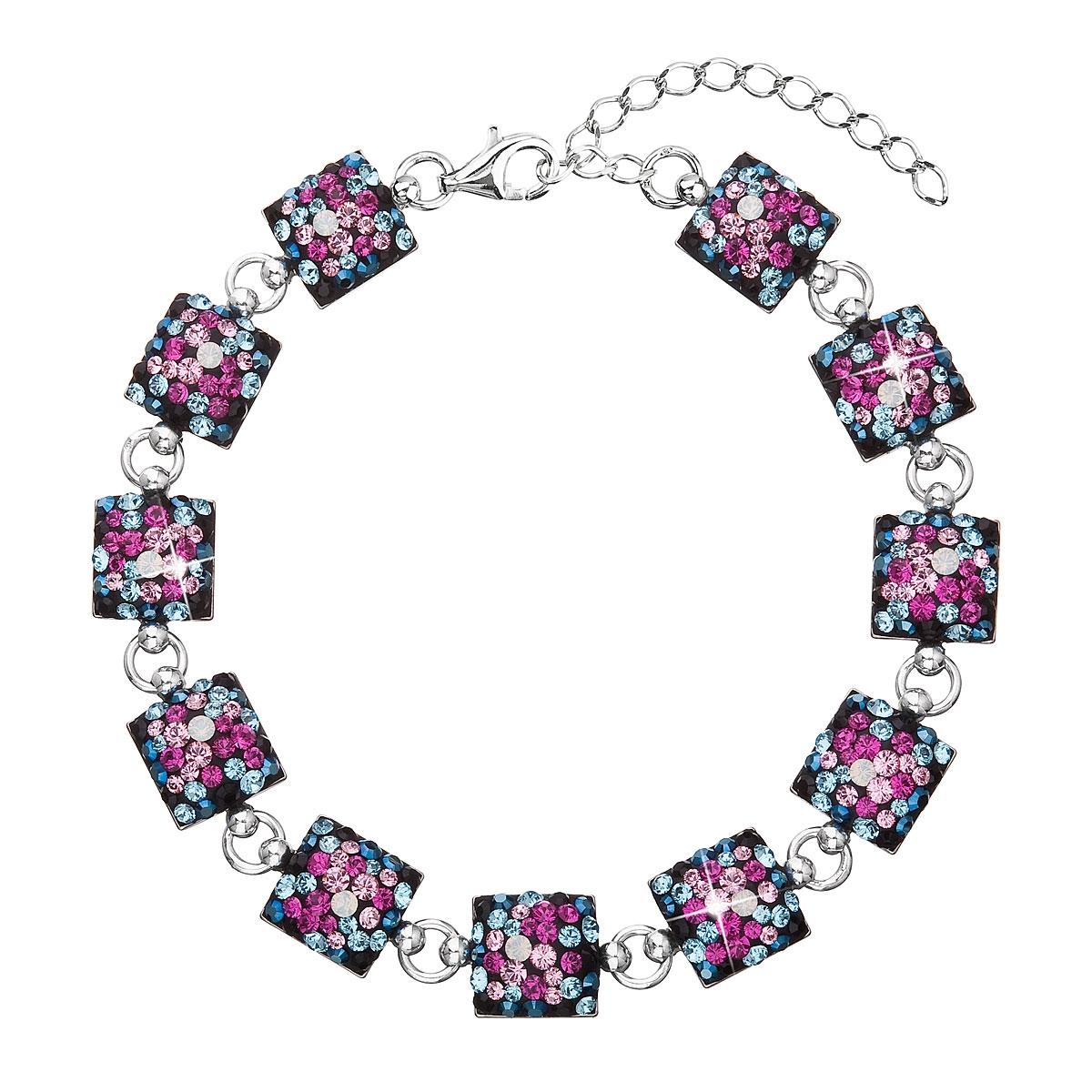 Strieborný náramok s kryštálmi Crystals from Swarovski ®, Galaxy
