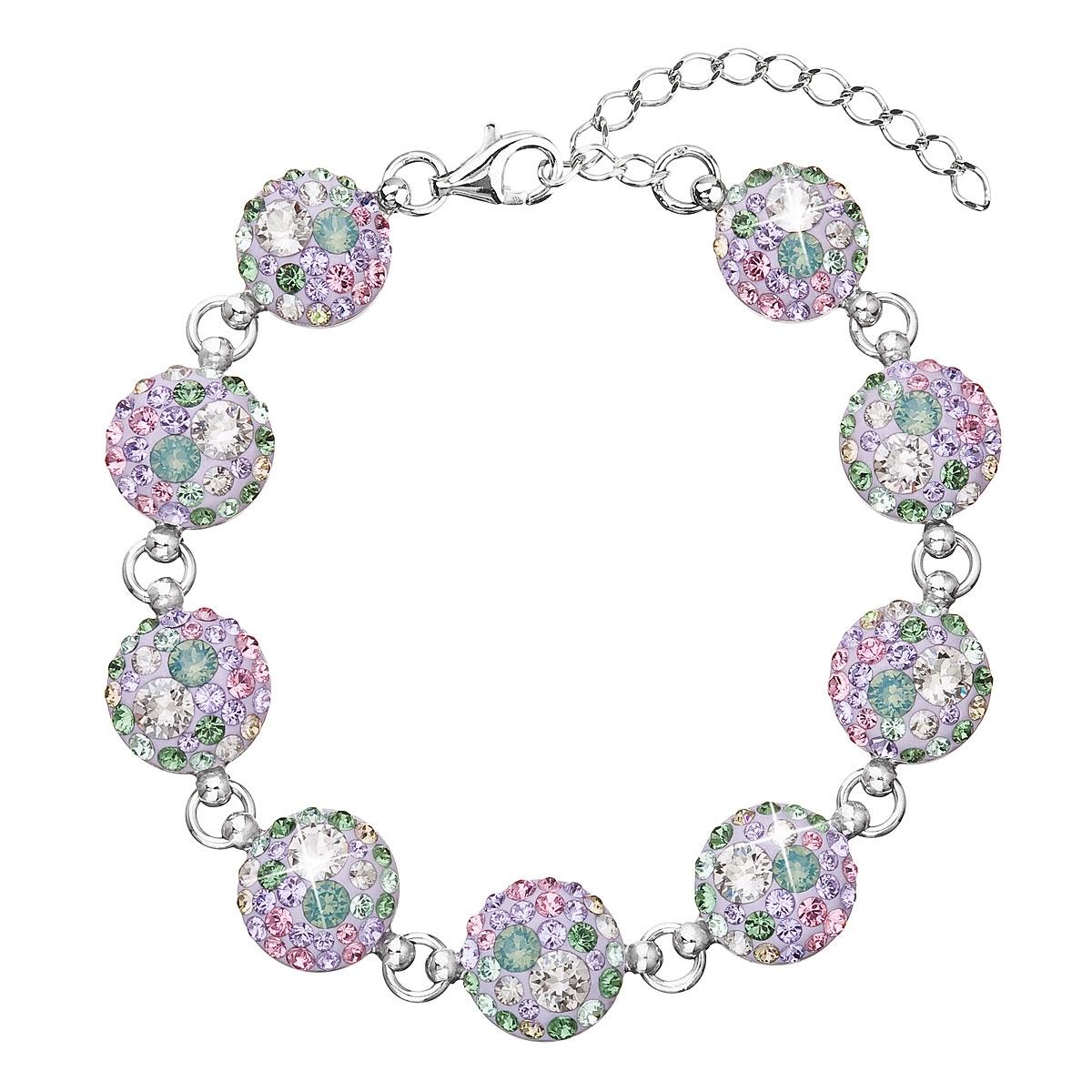 Stříbrný náramek s krystaly Crystals from Swarovski®, Sakura EG7004-SK