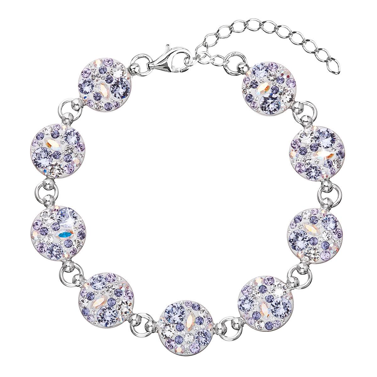 Stříbrný náramek s krystaly Crystals from Swarovski®, Violet EG7004-VI