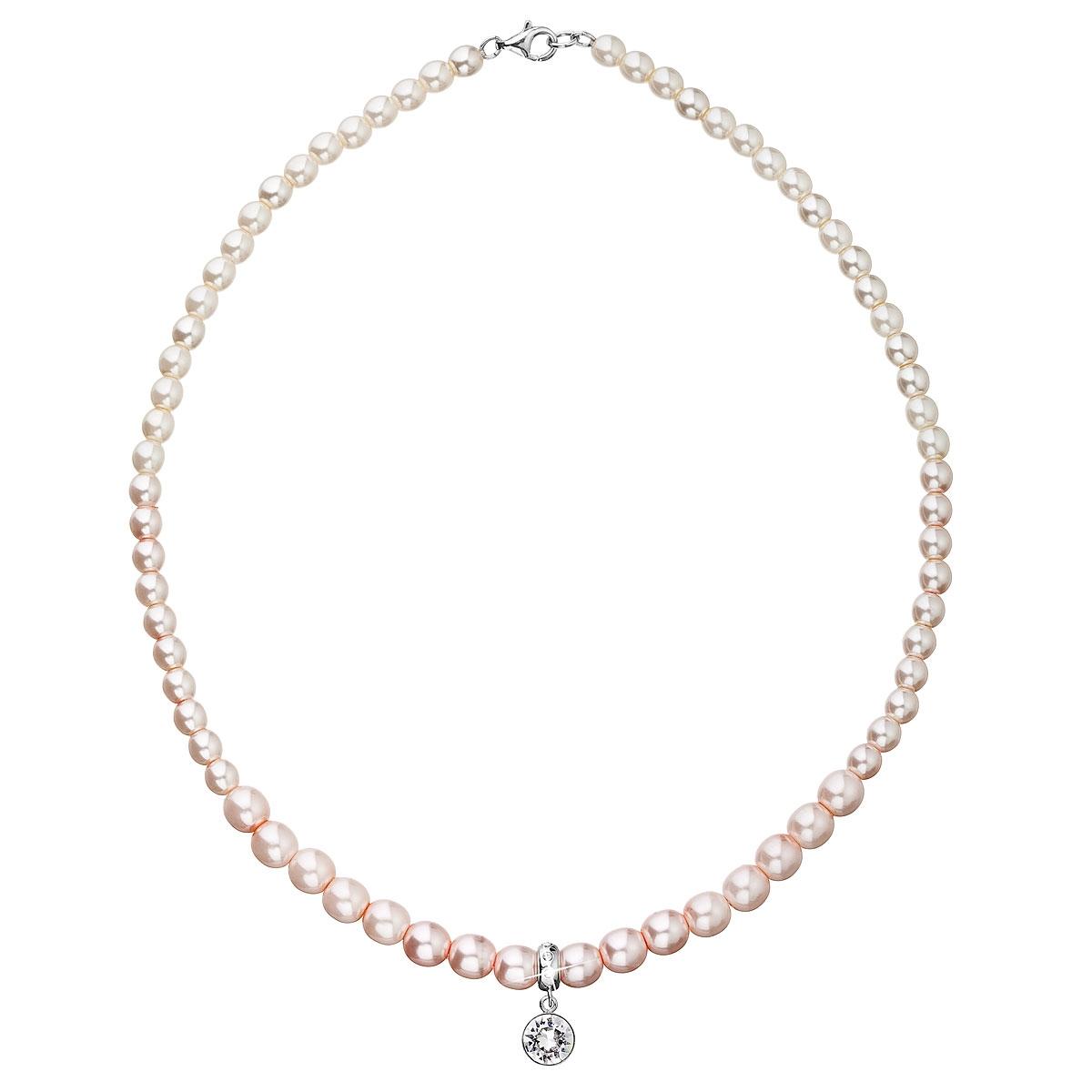 Perlový náhrdelník ružový