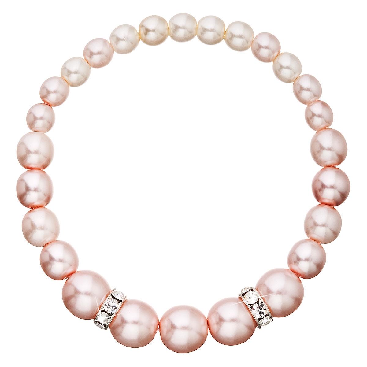 Perlový náramok ružový