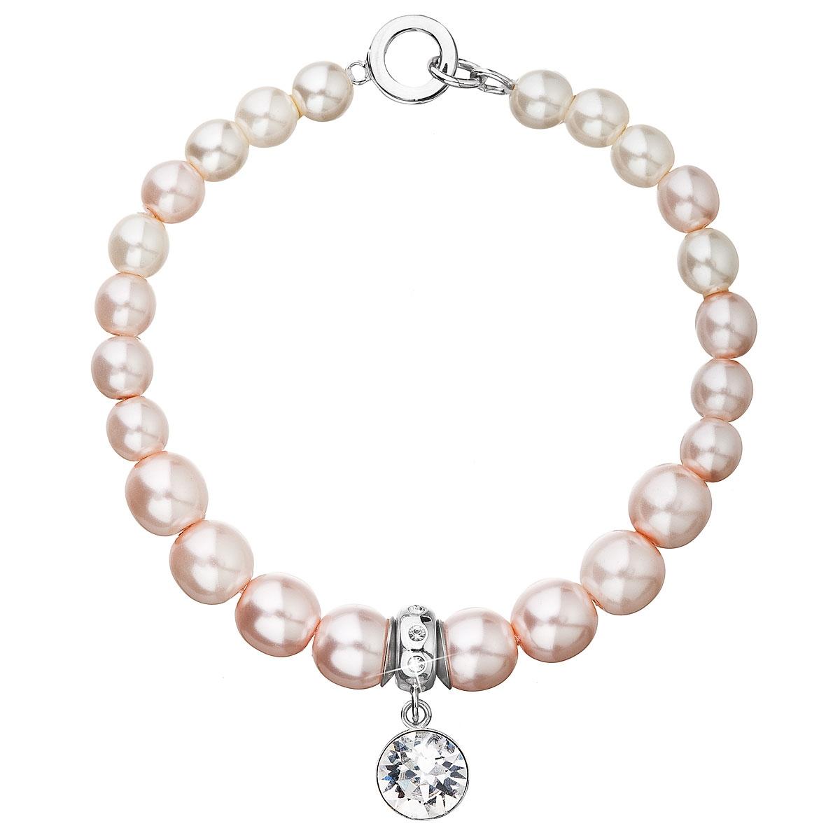 Perlový náramek růžové perly Crystals from Swarovski®