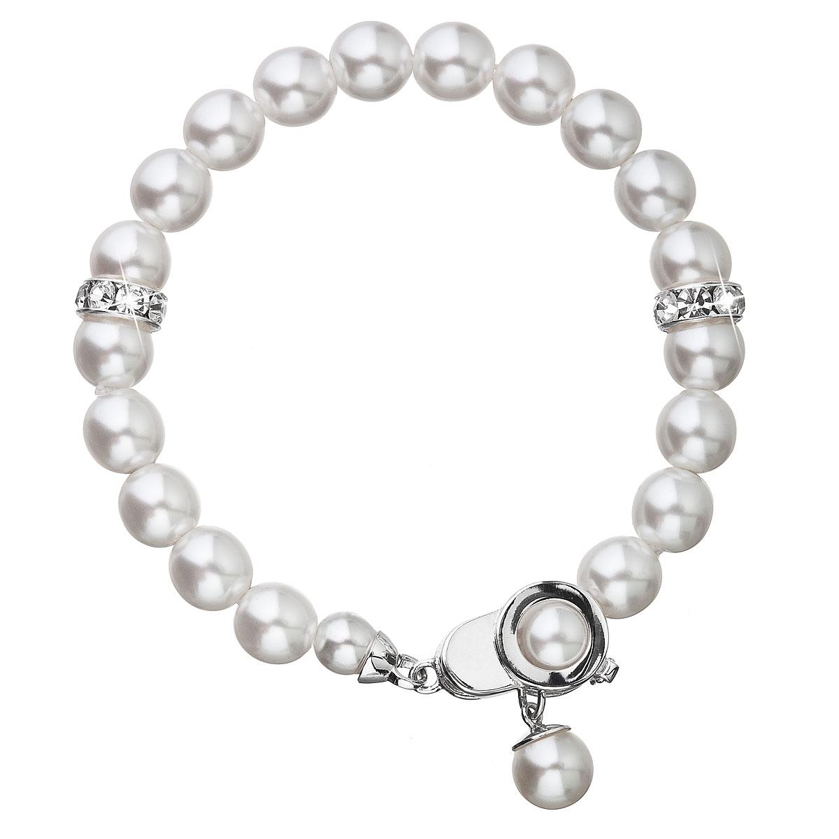 Perlový náramok biely