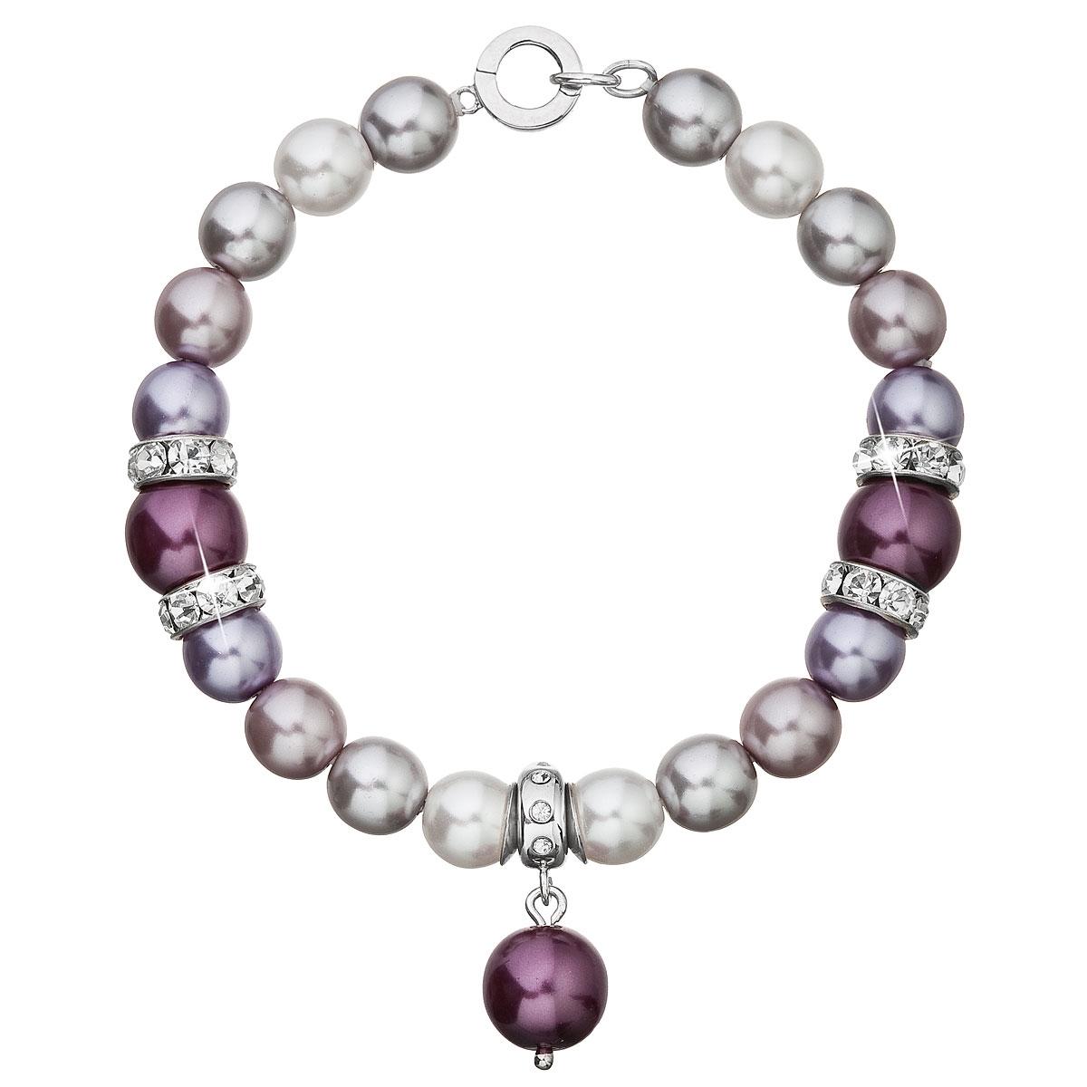 Perlový náramok fialový