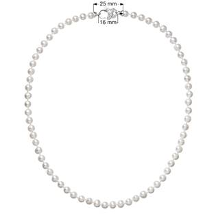 Perlový náhrdelník z pravých říčních perel bílý