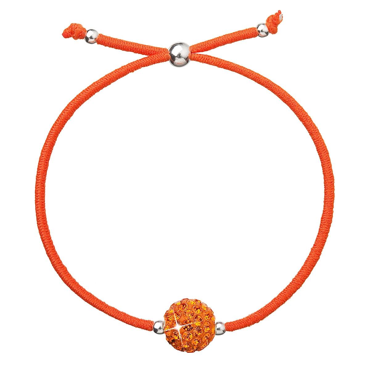Náramok s kryštálmi Crystals from Swarovski ® Oranžový