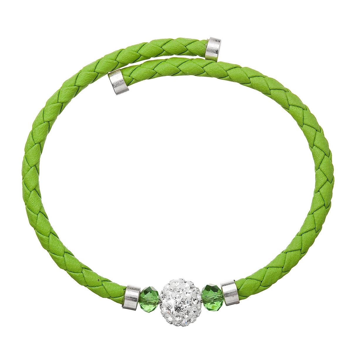 Náramok s kryštálmi Crystals from Swarovski ® Zelený