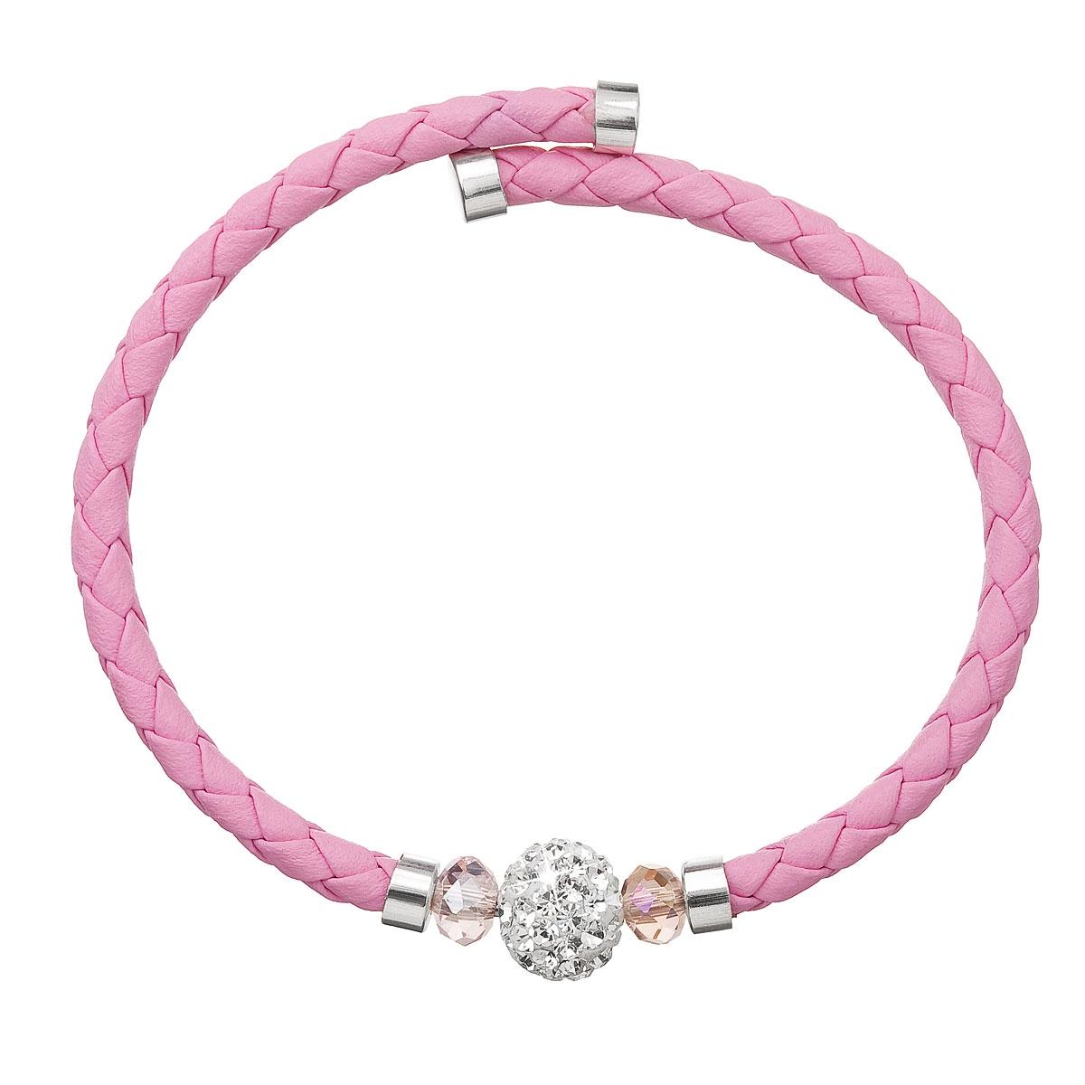 Náramok s kryštálmi Crystals from Swarovski ® ružový