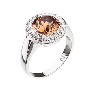 Stříbrný prsten Crystals from Swarovski®, Orange