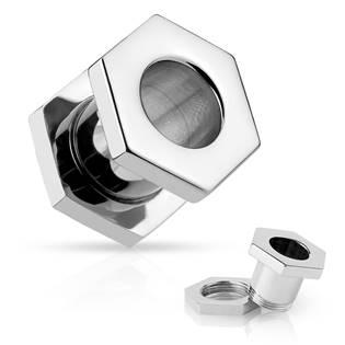 Šperky4U Tunel do ucha - šestihran - TN01025-10