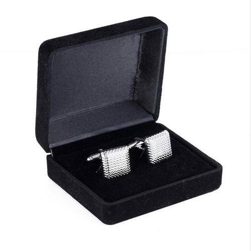 Semišová krabička na manžetové gombíky