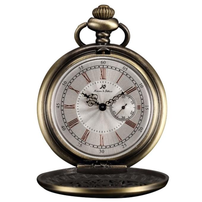 Bronzové vreckové hodinky v darčekovom balení