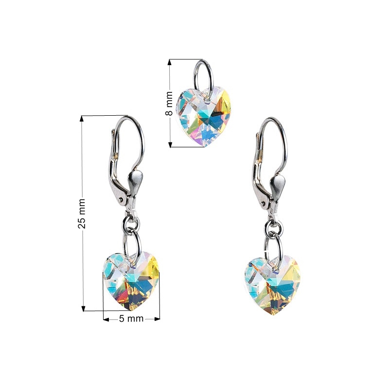 Sada šperkov so srdiečkami Crystals from Swarovski ® AB