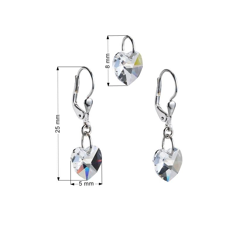 Sada šperkov so srdiečkami Crystals from Swarovski ® Crystal