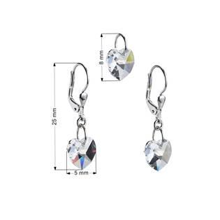 Sada náušnic a přívěšku se srdíčky Crystals from Swarovski® Crystal