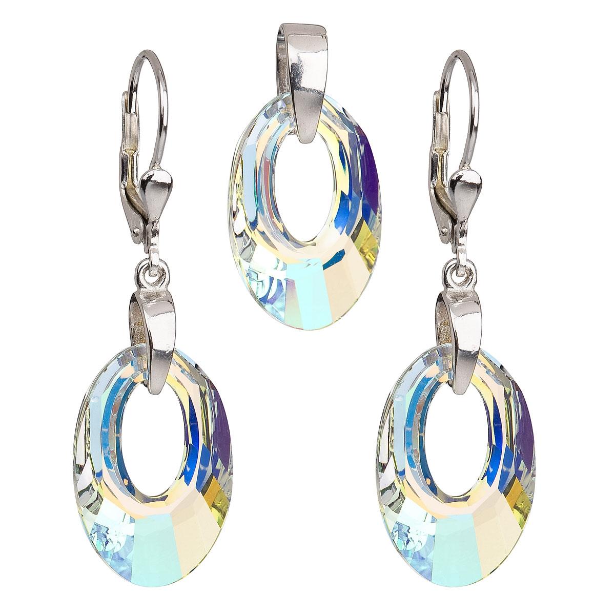 Sada šperků ovály Crystals from Swarovski® AB EG3031-AB