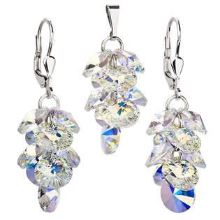 Sada šperků - hrozen s duhovými kameny Crystals from Swarovski®